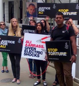 Ali Aarass electric shocks