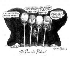 The Pinochhio Protocol by Martin Rowson