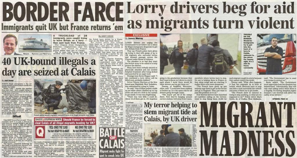 Battle of Calais newspaper montage