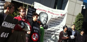 Demonstration outside the CPS on the two year anniversary of Jimmy Mubenga's death (© IRR News)