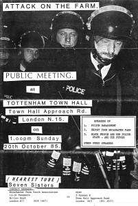 Broadwater Farm Youth Association flyer (credit: IRR Black History Collection)