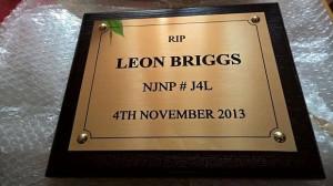 Leon Briggs plaque