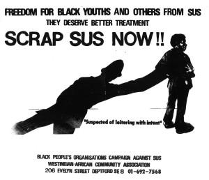 Scrap Sus flyer (credit: IRR Black History Collection)