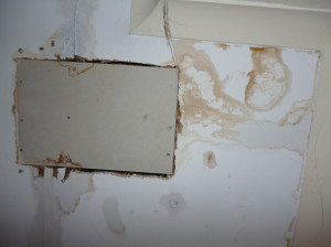 A leaking ceiling (© John Grayson)