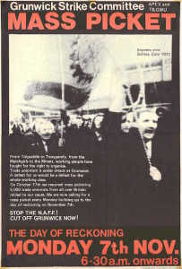 Grunwick's poster (credit: IRR Black History Collection)