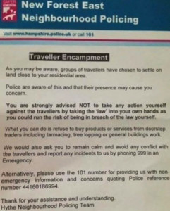 Poster under investigation by Hampshire police