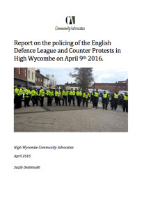 Report on policing of EDL demo - cover report