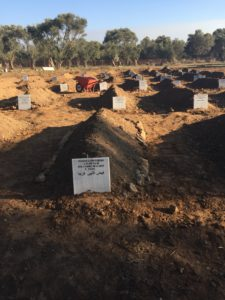 Migrants' graveyard, Myteline, Lesbos, September 2016