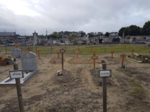 Refugee grave in Calais Cemetary