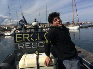 Sean Binder on ERCI boat