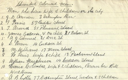 List of soldiers names from the Great War to Race Riots archive