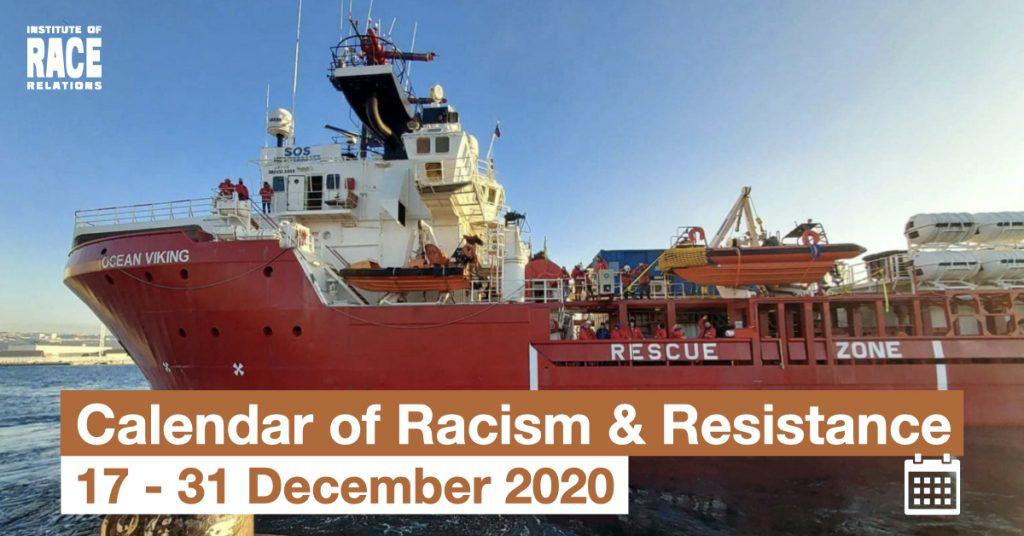 Headline image: The Ocean Viking rescue boat. Credit SOS MEDITERRANEE