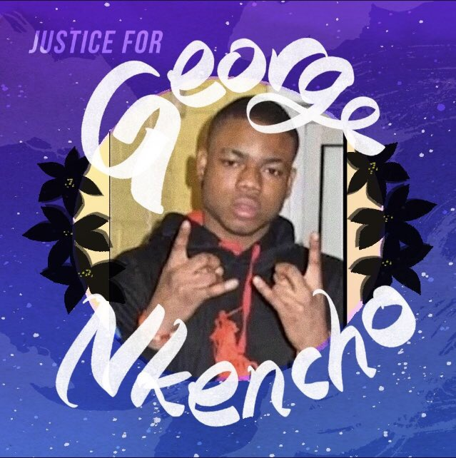 A Justice for George Nkencho campaign image.