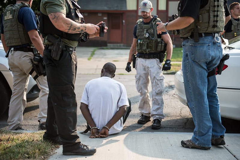 The result of a gang enforcement operation, Syracuse, New York, 2015 Credit: Office for Public Affairs Source: Flickr