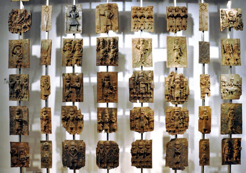 Benin bronzes in the British museum.