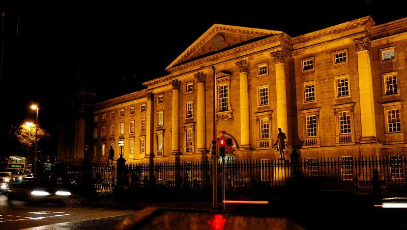 The facade of a Trinity College Dublin building.