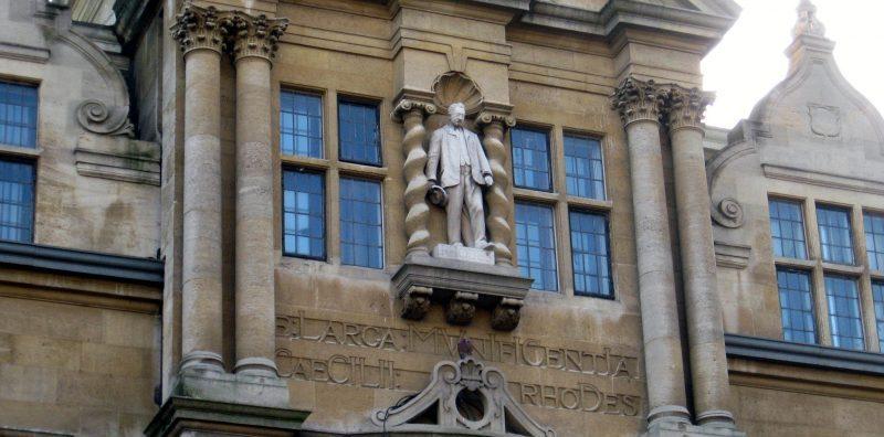 The Cecil Rhodes statue, Oriel College, Oxford.