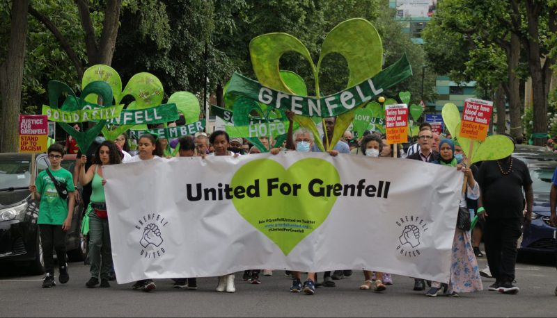 A silent walk marks the fourth anniversary of the Grenfell fire.