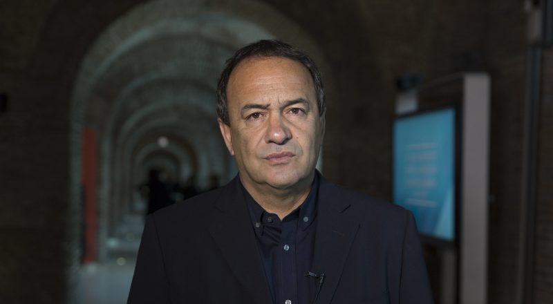Portrait photo of former Mayor of Riace Domenico Lucano